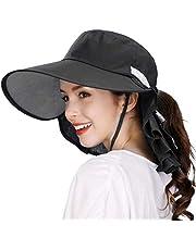 Fancet Womens Packable Cotton Cooling Japanese Sun Hat Summer SPF 50 Safari Fishing 55-60cm
