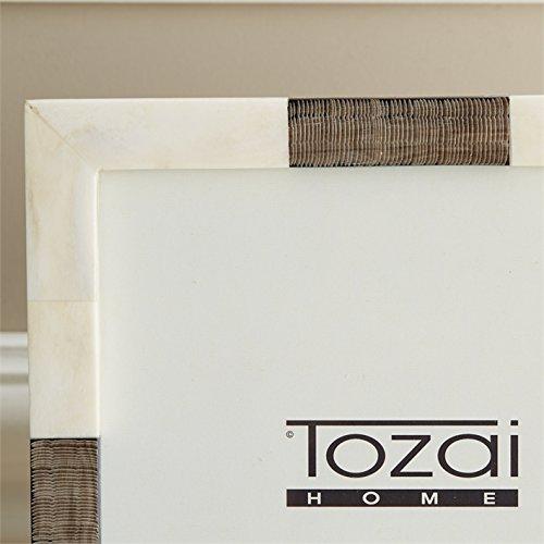 Tozai Home Chiseled Horn and Bone 8'' x 10'' Photo Frame