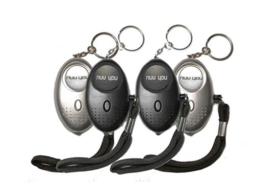 Personal Alarms for woman siren 140 DB with LED light (4 PACK),nuu you small Emergency Safety Sound Alarm Keychain for personal alarm Women/Kids/Girls/Elderly Self Defense Device Policeman Recommend