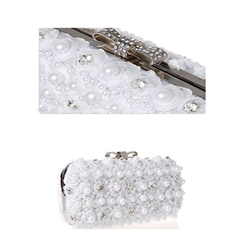 ZYXCC Chiffon Cosmetic Creamy white Bridesmaid Bag Women's Dinner Bag Bag Diamond SHISHANG Fashion wv4tCqnA