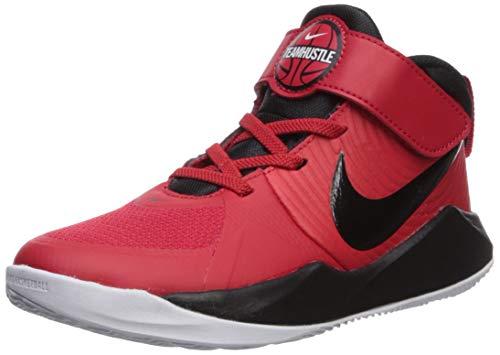 Nike Unisex Team Hustle D 9 (PS) Sneaker, University red/Black-White, 11C Regular US Little Kid