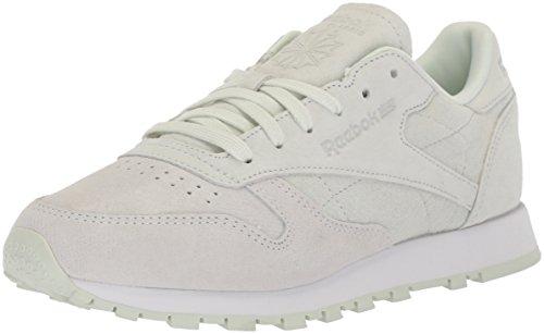 Reebok Womens CL Lthr NBK Sneaker White/Opal 7vXzc5