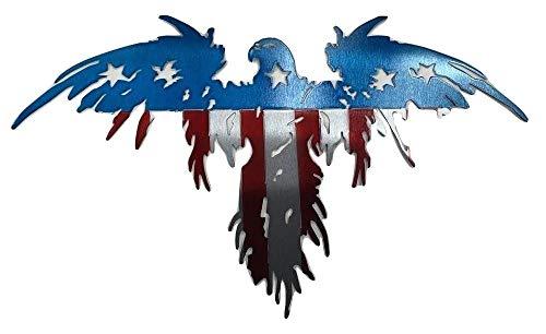 Metal Art of Wisconsin Flying Freedom Eagle (2 ()