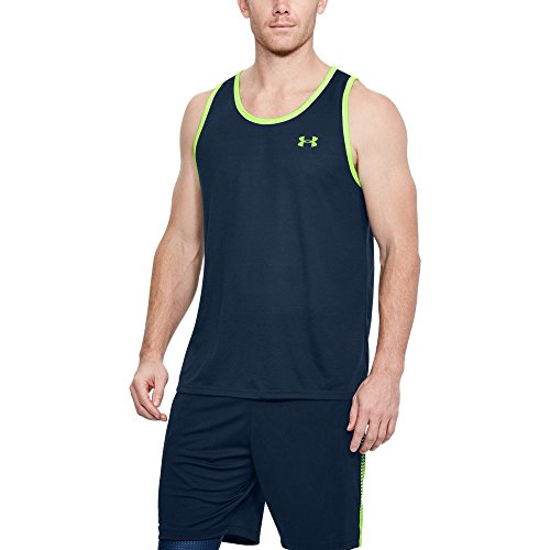 UPC 191480425701, Under Armour Men's Threadborne Siro Tank, Academy/Quirky Lime, Large