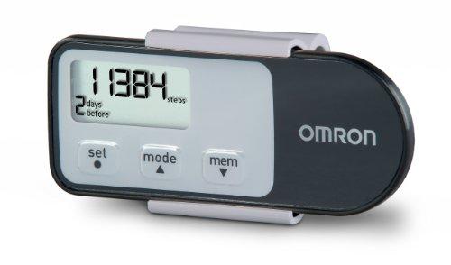Omron Tri-Axis Alvita Optimized Pedometer – Features 4 Activity Modes – Black, HJ-321