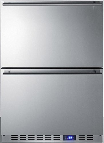 Summit SPR627OS2D Built-in Drawer Refrigerator, Stainless Steel