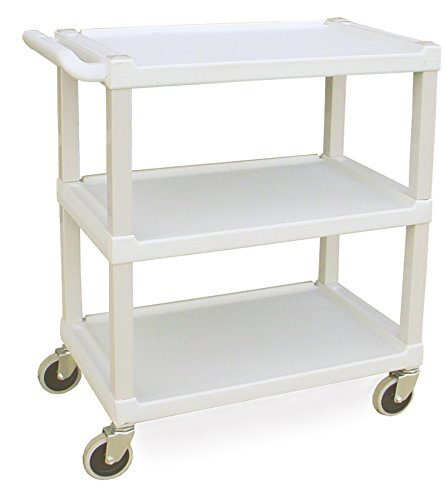 - Lakeside 2000 Plastic Utility Cart, Weight Capacity 300 lb, 3 Shelves, 17-1/8