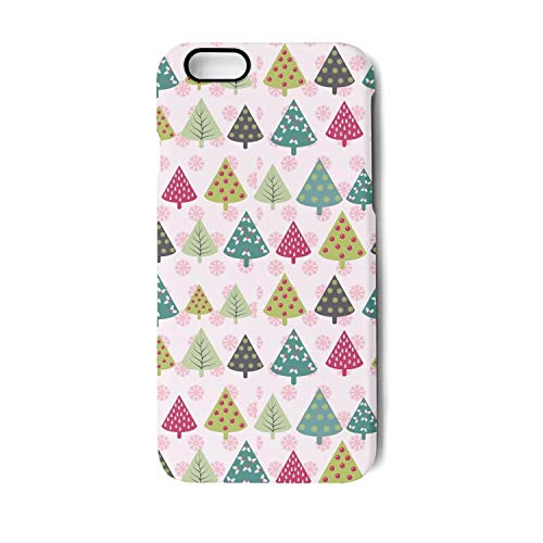 Christmas Xmas Trees and Snowflakes Pink iPhone 7Plus case Anti-Fall Non-Slip Scratchproof Protective case for iPhone 8Plus case