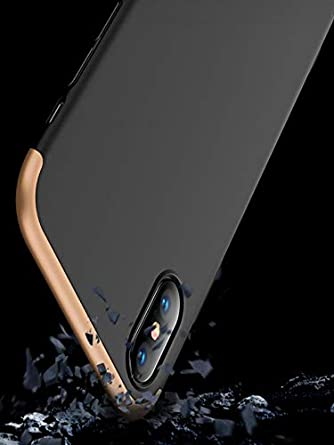 D MMLC iPhone XS H/ülle Case,Ultra Thin Hard PC Hybrid Armor Bumper Case Full Cover