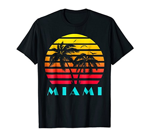 Miami 80s Sunset T-Shirt - 5 colors