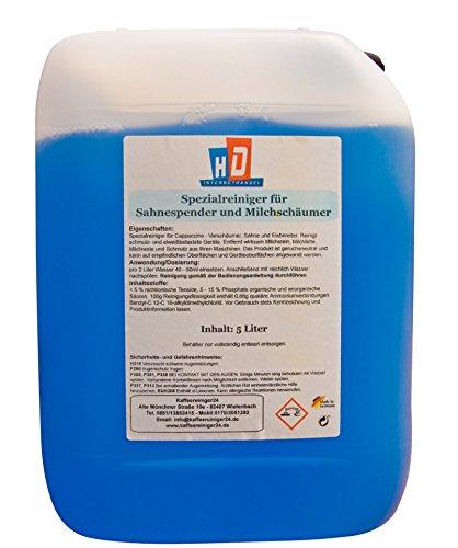 Flüssig-Reiniger für Milchaufschäumer 5 Liter   Milchschaum-Reiniger für Kaffeemaschine und Kaffeevollautomat mit Milchschäumer   Sahnemaschinen-Reiniger geeignet für alle Milchaufschäumer + Sahnespender