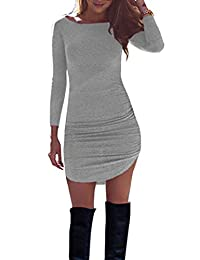 Women's Solid Tight Pack Up Hip Dress