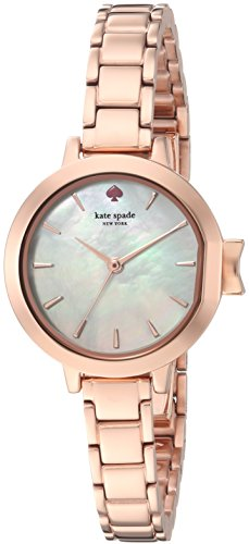 Gold Pearl Watch (kate spade new york Women's 'Park Row' Quartz Stainless Steel Casual Watch, Color:Rose Gold-Toned (Model: KSW1363))