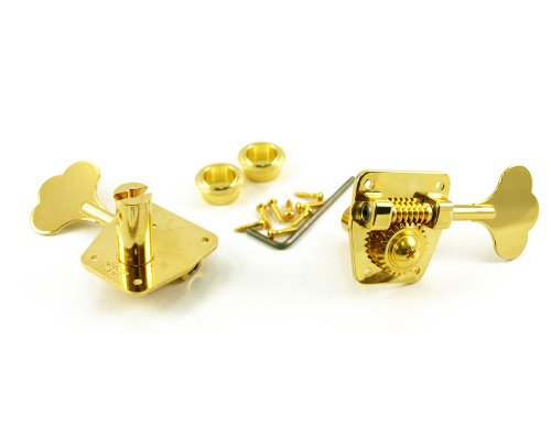 GOTOH® LARGE 4 IN LINE BASS TUNERS GOLD