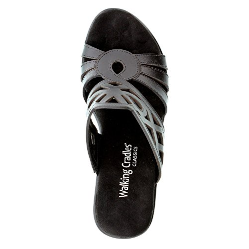 Walking Cradles Mujeres Logan Wedge Sandal Black Soft Antanado