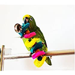 Pet Bird Conure Macaw Cockatiel Cockatoo Parrot Chewing Toy Colorful Rusee Parrot Hanging Toys