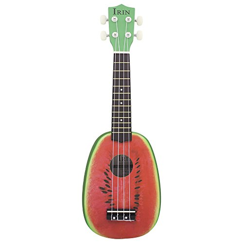 Robolife IRIN 21 inch 4 String Hawaii Basswood Ukulele Watermelon Mini Guitar Musical Instrument by Robolife