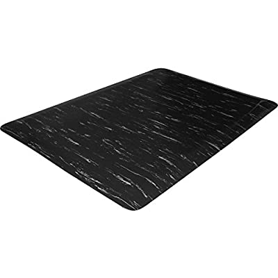 Genuine Joe 71211 Marble Top Mats, Anti-Fatigue, 2'x3'x1/2', Black Marble