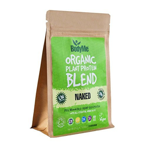 BodyMe Organic Vegan Protein Powder Blend | Naked Natural | 8.8oz 250g | UNSWEETENED with 3 Plant Proteins