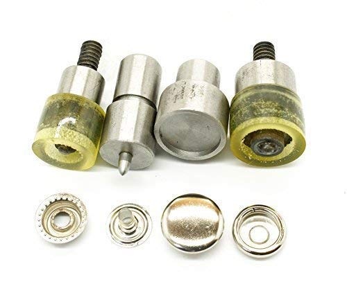 4-Part Press Stud Setting Tool Die Set For 15Mm Studs - Compatible With Universal Blue Hand Press Machine (T3 Cast)