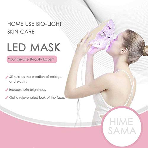 Pro 7Color LED Mask Skin Care Photon Lighttherapy Mask Electric Therapy For Healthy Skin Face & Neck Skin RejuvenationClinically Tested Home & Salon Aesthetic Mask