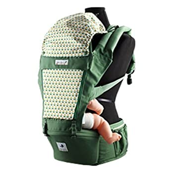 Pognae Orga Plus Baby Hipseat+Carrier Front /& Backpack Carrier Ergonomic Green