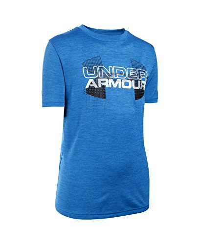 Under Armour Boys' Tech Big Logo Hybrid T-Shirt, Ultra Blue (909), Youth Small