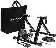 Alpcour Base Bicicleta Rodillo para Entrenar en Interiores - Soporte Magnético de Acero Inoxidable con 6 Nivel