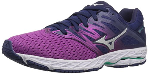 Mizuno Women's Wave Shadow 2 Running Shoe, Purple Wine/Patriot Blue, 8 B US ()
