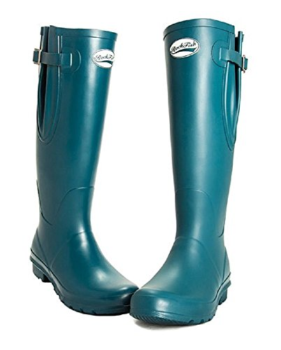 (Shires Rockfish Tall Matte Wellington Boot 5 Dragonfly)