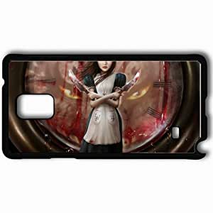 Personalized Samsung Note 4 Cell phone Case/Cover Skin Alice Watch Knives Blood Black