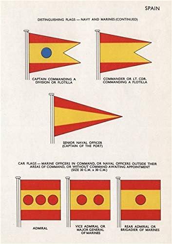 España Azul Marino & Agente de Capitán de los Marines Banderas ...