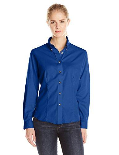 Lee Women's Dual Action Long Sleeve Work Shirt, Royal Blue, Large