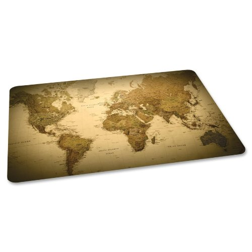 ES Robbins Trendsetter Rectangle World Map Printed Office Chair Mat for Hard Floors, 36 by 48-Inch (Printed Chair Mat)