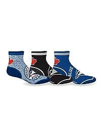Sporticus Men's MLB Toronto Blue Jays 3-Pack Quarter Socks