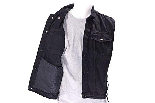 Black Denim Vest With Gun Pocket-Men's Size Large