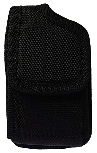 Classic Premium Nylon Pouch Case with Belt Clip for Medtronic Minimed Insulin Pump -Retail Packaging (V2/Black)