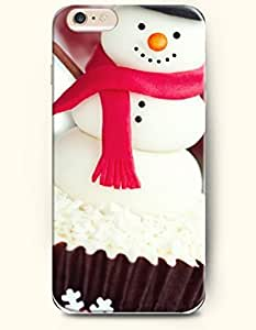 SevenArc Phone Case for iPhone 6 Plus 5.5 Inches with the Design of Snowman Cake