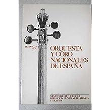 Orquesta y coro nacionales de España. Temporada 81/82. Director asociado ONE: Jesús López Cobos. Director titular CNE: Enrique Ribó