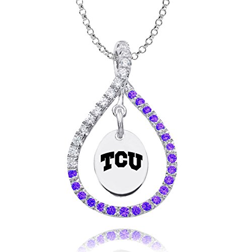 Texas Christian TCU Horned Frogs Purple Cz Figure 8 ()