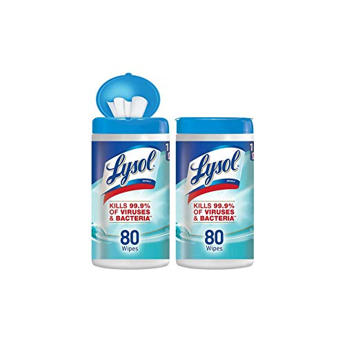 - Lysol - Disinfecting Wipes - 80ct - Ocean Fresh - Disinfectant - Cleaning - Sanitizing (.2 pack(160 Count))