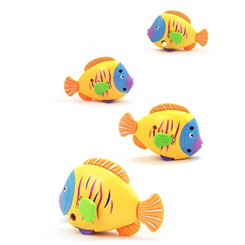 TAORE Wind Up Swimming Donna Discus Fish Bath Toy, Multicolor (Costume Role Playset)