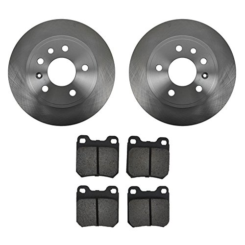 - Rear Disc Brake Rotors & Metallic Pads Pair Set for Saab Saturn