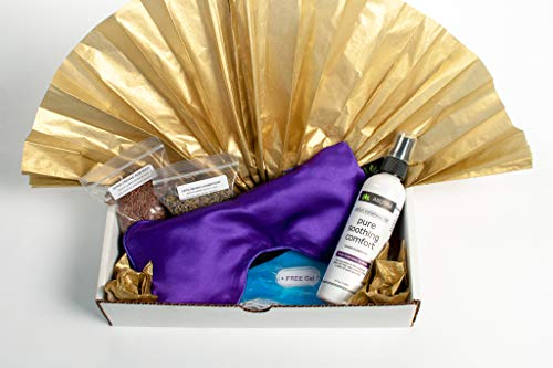 ASUTRA Sleep Holiday Bundle Gift Set—2 Items: Silk Eye Pillow Filled With Organic Lavender & Flax Seeds + 100% Natural Lavender & Chamomile Sleep Spray (Pure Soothing Comfort), 1 4oz. Bottle