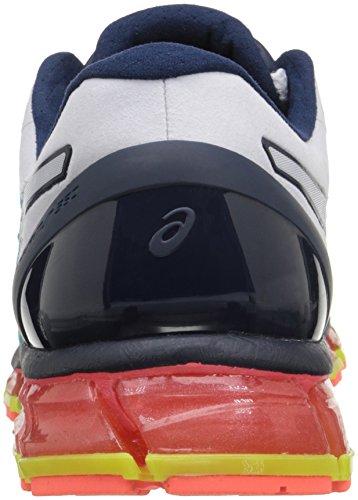 Asics Chaussure De Course Gel-quantique 360 cm Blanc / Bleu Foncé / Jaune Sécurité