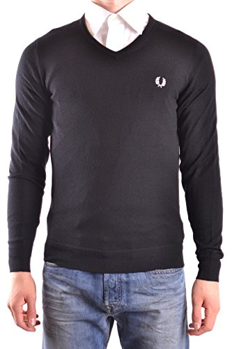 Fred Perry Mujer MCBI128191O Negro Lana Suéter