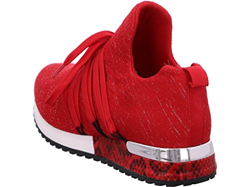 Negro Vestir Rojo Mujer Para Sandalias La De Strada awnTqYa1R