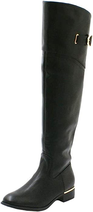 SHU CRAZY Womens Ladies Faux Leather