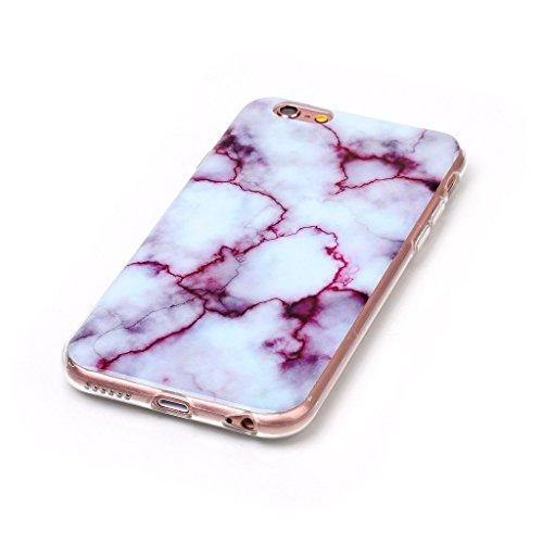 Crisant Case Cover For Apple iPhone 6 6S 4.7'' (4,7''),Marbre pourpre Design souple gel TPU silicone protection arrière Housse coque étui Pour Apple iPhone 6 6S 4.7'' (4,7'')