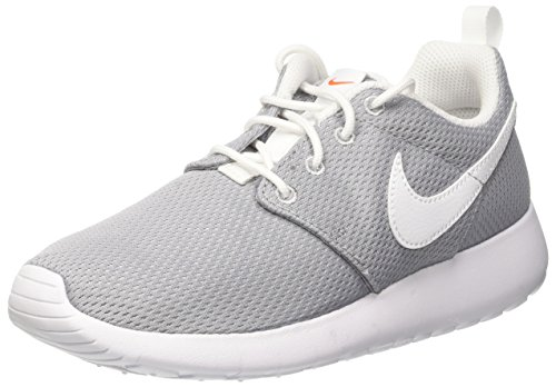 Nike Youth Roshe One (Wolf Grey/White/Safety Orange)(4.5 M US Big - Me Outlet Near Premium